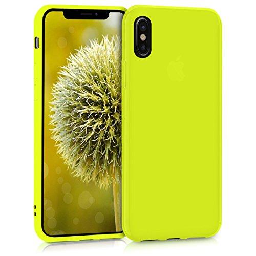 kwmobile Apple iPhone X Hülle - Handyhülle für Apple iPhone X - Handy Case in Neon Gelb