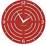 BLACK DIAL Elton Designer Wall Clock (11.5 Inch) (Aluminium (ACP) frame) FC 148 (1, Red)