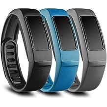 FUNKID Recambio pulsera con broches para Garmin Vivofit 2/Garmin Vivofit2 Fitness, banda de reemplazo para Garmin Vivofit2 (3en1 Paquete)