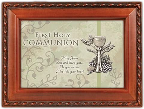 Cottage Garden First Holy Communion Religious Musical Music Jewelry Box