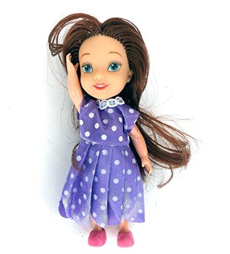 5 Stück MyFairy Minis© Prinzessinnen Puppe mit Puppenkleidung, 11cm - 2