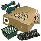 Spar Angebot Staubsaugerbeutel Filter Set und Bürsten passend für Vorwerk Kobold VK 130 , Kobold VK 131 und 131 SC mit EB 350 / EB 351