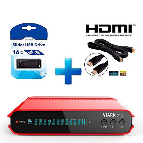 Kit Receptor VIARK DROI +USB 16GB+ Cable HDMI