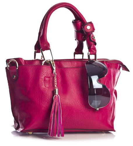 Big Handbag Shop , Damen Satchel-Tasche One Senfgelb