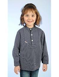 """Fischerhemd für Kinder schmal gestreift """"Basic"""" von Modas alle Größen"""