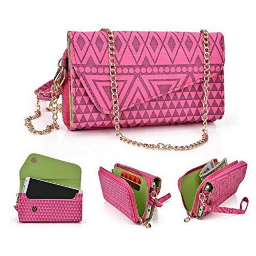 Kroo Tribal Urban Style Phone Case Walllet Kupplung für MaxWest Virtue Z5/GRAVITY 5,5 mehrfarbig hot pink (Kleine Urban-umschlag)