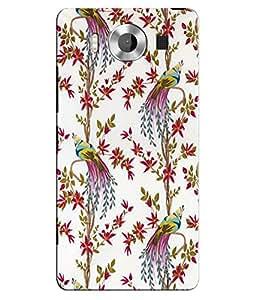 Citydreamz Birds\Jungle Hard Polycarbonate Designer Back Case Cover For Microsoft Nokia Lumia 950