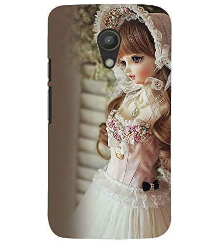 Printvisa Baby Doll Dressed Up In White Gown Back Case Cover for Motorola Moto G2 X1068