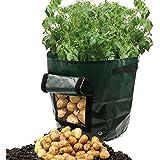 Sacs de culture Dreamerd de 26,4L / pot d'aération en tissu / sac de culture de pommes de terre avec rabat pour faire pousser des légumes: carottes, pommes de terre et oignons