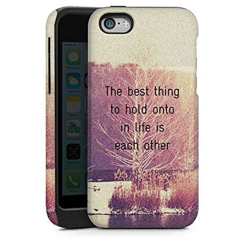Apple iPhone 4 Housse Étui Silicone Coque Protection Phrases Arbres Amour Cas Tough brillant