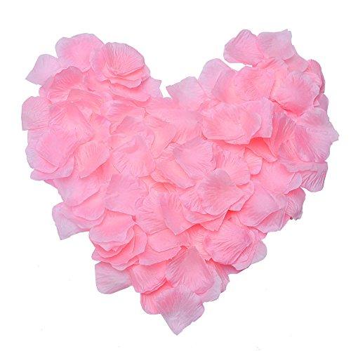 �ten Konfetti Hochzeit Rosenblätter, 1000 Stück (Rosa) (Bulk-rosenblätter)