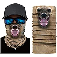 KINJOHI Magic Sports Seamless Mask Outdoor Riding Mountaineering Scarf Headwear Half Face Mask Neck Cover