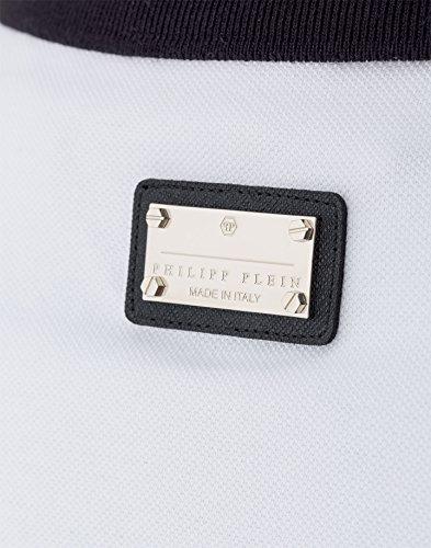 PHILIPP PLEIN - Herren Polo PUNK IS STEIN (HM352823) Weiß