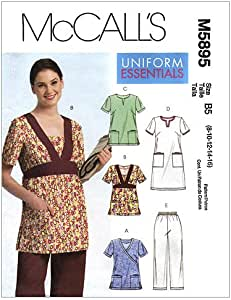 Dress and Pants 8-10-12-14-16 McCalls Patterns M5895 Misses//Womens Tops Size B5