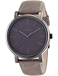 Timex Originals T2N795PF Orologio Analogico da Polso da Donna, Pelle, Grigio