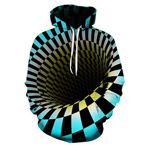 Zu Kostüm Mann Arbeiten Iron - VBWER Pullover Liebhaber Herren Damen Herbst Winter 3D Print Langarm Hoodies Sweatshirt Top Streetwear