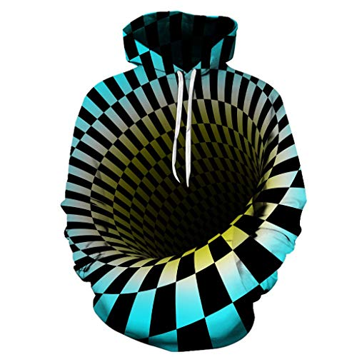 Gangster Kostüm Girl - VBWER Pullover Liebhaber Herren Damen Herbst Winter 3D Print Langarm Hoodies Sweatshirt Top Streetwear