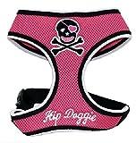 Hip Doggie Pink Skull Mesh Geschirr Weste, X-Large