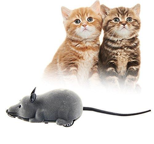 Scenstar New Mini Zwei-Kanal-batteriebetriebene 27MHz Funkfernbedienung R / C Maus Spielzeug Radio Fernbedienung RC Maus Mäuse mit Fernbedienung Spielzeug (schwarz, grau, braun)