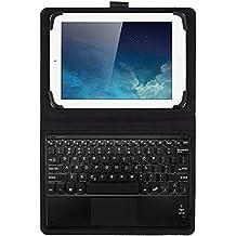 JETech Funda con Teclado Bluetooth Inalámbrico Funda de Cuero con Teclado con Touchpad para Tablet PC de 9 pulgada o 10 pulgada que incluye Samsung Galaxy Tab 3, Tab 4, Tab A, Tab S2 9.7 10.1 y los Otros Similares - 2154