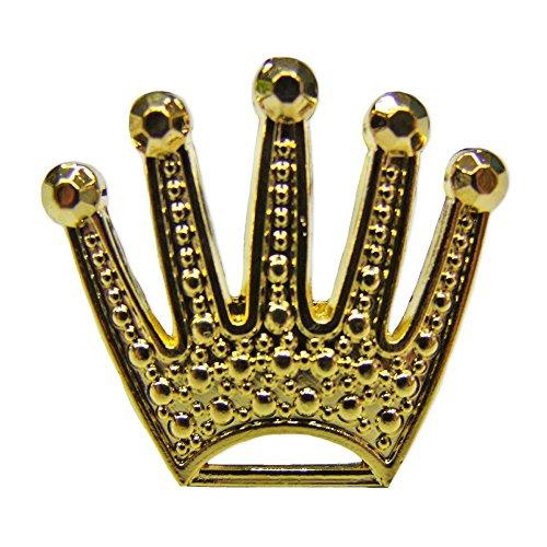 Goldener Ring Krone - Tolles Accessoire für König, Rapper oder Hippie Kostüm