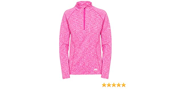 Pink Glow Marl Medium Trespass Womens Tp 76 Olina Half Zip Top Tp76