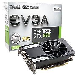 EVGA GeForce GTX 960 Superclocked Gaming ACX 2.0 2GB GDDR5 128bit PCI-E 3.0 16x Graphic Card 02G-P4-2962-KR