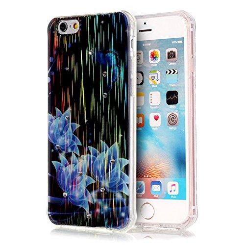 "Sunroyal iPhone 6 Plus 6S Plus 5.5"" Transparent Laser TPU Handyhülle Schutzhülle Durchsichtig TPU Crystal Clear Klar Case Cover Backcover Bumper Slimcase - Baum Life of Tree Muster Pattern Pattern 02"