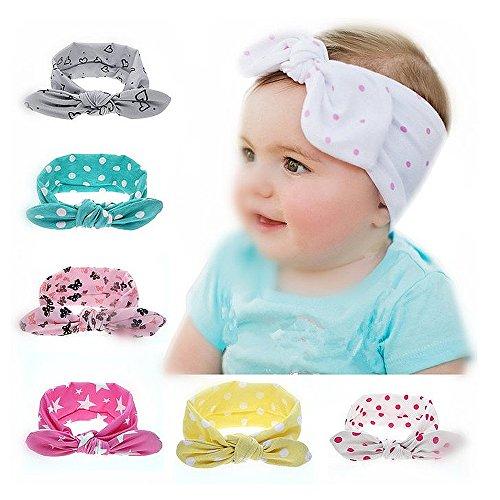 Magicmoon® Turbante Nodo Cerchietti Copricapo Fascia Testa Capelli Wrap Wear Fasce per Blulu Bambine Bimbe Neonato (G)