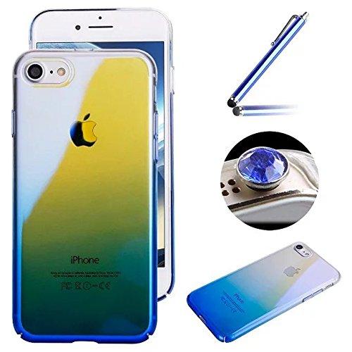 Etsue Liquid Flüssigkeit Hülle für iPhone 6S/iPhone 6, Glitzer Flüssig Wasser Hülle für iPhone 6S/iPhone 6, Lusting Kreativ Glitzer Glitter Shiny Glanz Sparkle Schwimmend Liebe Herz Muster Kristall kl Gradient Blau
