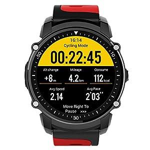 AUTOECHO FS08 Sports Smartwatch IP68 Control de presión de frecuencia cardíaca Resistente al Agua Monitoreo Deportivo de múltiples Modos Reloj Inteligente GPS con 120 Horas de Tiempo de Espera