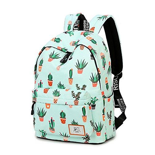 Imagen de acmebon  escolar de ocio ligera y moderna  cartera escolar para niñas y niños con lindo estampado cactus 626 alternativa