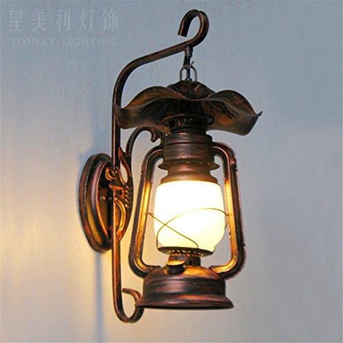 Ysddian Petroleumlampen (Traditionelle Chinesische Eisen Jugendstil Transitkorridor LED-Wandleuchten...
