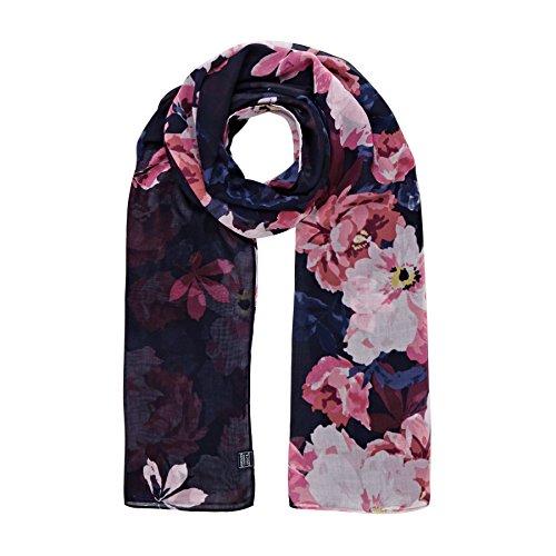 Joules Womensladies Z Wensley Printed Lightweight Polyester Scarf