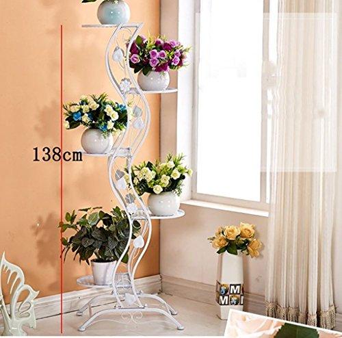WW Blumen-Gestell-Blumen-Gestell-europäischer einfacher Balkon-Eisen-Blumen-Gestell / multi-Storey Innen- und Metallständer im Freien im Freien vertikales Blumen-Gestell,BBB