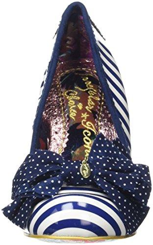 Donna Scarpe Blue Irregular Blue Tacco con White ChoiceAscot npTUnq5I