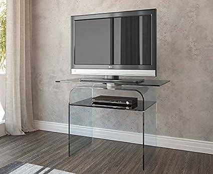 Tavolo Porta TV girevole in vetro. Ripiano per lettore e decorder ...