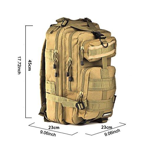 Imagen de eyourlife  militar táctica molle para acampada camping senderismo deporte backpack de asalto patrulla para hombre mujer caqui puro 20l alternativa