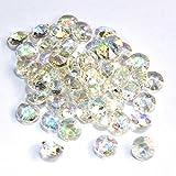 SiDeSo® Dekosteine 100 Stück 12mm 1,2cm Diamanten Acryl Tischdeko Hochzeit (irisierend)
