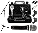 TronixCL Profi Mikrofonset Dynamisches Gesangs Mikrofon Galgenständer 5m Klinke-Kabel Mikrofonklemme XLR Adapter