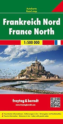 Frankreich Nord, Autokarte 1:500.000, freytag & berndt Auto+Freizeitkarten Karte Von Frankreich