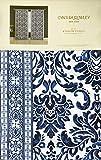 Cynthia Rowley Set mit 2 Fenstern, Gardinenstangen, Damast-Medaillon-Muster mit geometrischer Bordüre, 106,7 x 243,6 cm