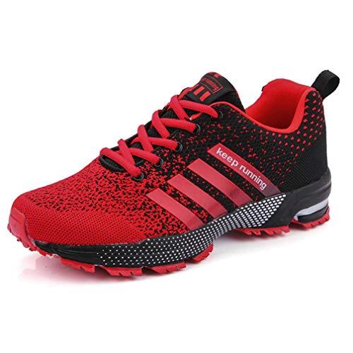 Zapatillas Deporte Hombre Zapatos para Correr Athletic Cordones Zapatillas de Deporte Respirable para Correr Deportes Zapatos Running Hombre