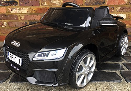 Kids Licensed Audi TT RS Sports Car with Remote Control 12v Electric / Battery Ride on Car - Black