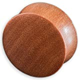 viva-adorno® 1 Stück Double Flared Flesh Plug Tunnel aus Holz verschiedene Holzarten zur Auswahl Größe 2 - 30mm WP1, Saba, 18mm
