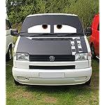 Schermo-oscurante-per-parabrezza-Danny-per-VolksWagen-Transporter-Camper-Van-T4-con-motivo-occhi-assonnati