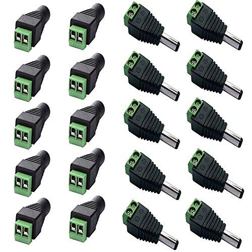 gogoforward 10PCS Lautsprecher Draht Kabel, Buchse & Stecker Cinch-Stecker Adapter Jack Plug LED (Linie Gehäuse Die Spannung)