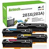 Aztech Compatible pour HP 203X 203A CF540A CF540X CF541X CF542X CF543X pour HP Color...