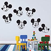 Calcomanías De Pared Mickey Mouse Varias Caras Calcomanías Chicos Niñas Dormitorio Pared Calcomanía Vivero ...