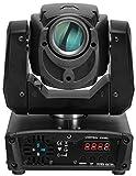 Showlite ML-30SP Moving Head 30 W (Musiksteuerung/DMX/Autosteuerung mit 60 Programmen, 10 Farben, 9 Gobos, Stroboskop und Spot Funktion, Pan/Tilt 630°/270°, sehr schnell, 60.000 Std. Lebensdauer)